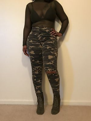 Camouflage Pants Studded with Spikes for Sale in Fort Washington, MD