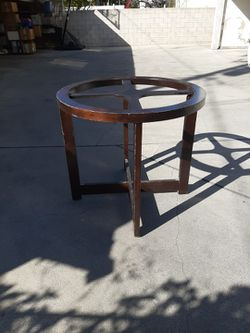 Solid Wood Table With Glass Top for Sale in Pasadena,  CA