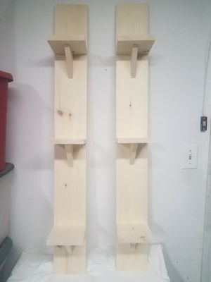 Vertical Wall Shelves Ready for Stain or Paint for Sale in Clovis, CA