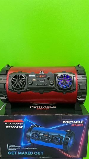 Max Power Portable Bluetooth Speaker & Radio for Sale in Harrisburg, PA