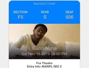 Gucci mane tickets for sale for Sale in Taylor, MI