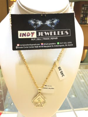 10Kt gold rope chain along with the charm available on special sale for Sale in Indianapolis, IN