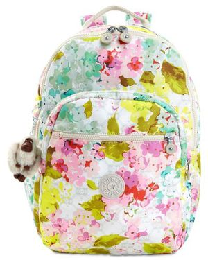 "KIPLING SEOUL LARGE 15"" LAPTOP BACKPACK LUSCIOUS FLORALS WHITE for Sale in Tamarac, FL"