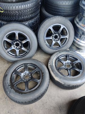 """Set of used 15"""" 5 lug universal rims for Sale in Fullerton, CA"""