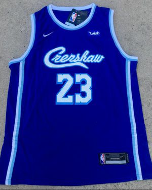 Lakers Crenshaw Lebron James Jersey Nipsey Hussle for Sale in Los Angeles, CA