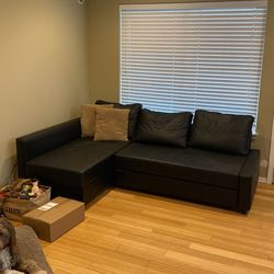 IKEA Black Pullout Couch for Sale in Tacoma,  WA