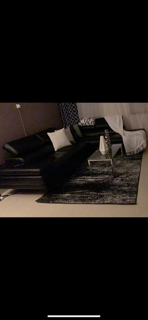 Black leather sectional for Sale in Boston, MA