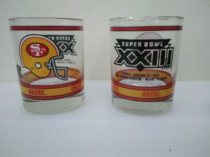 *Rare Vintage Collectable 49ers Memorabilia* SuperBowl XXIII Tumbler Glasses for Sale in Hayward, CA