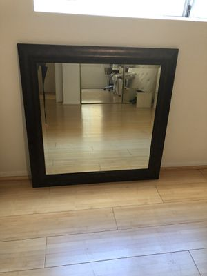 Square wall mirror with frame for Sale in Los Angeles, CA