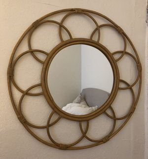 Opalhouse Round Rattan Mirror for Sale in Los Angeles, CA