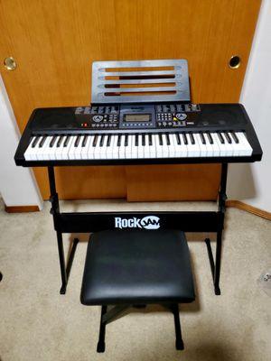 Electric Keyboard Piano 61 keys full set for Sale in Portland, OR