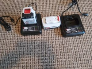 2 BLACK AND DECKER LITHIUM 36 VOLT CHARGERS AND BATTERIES for Sale in Thomasville, NC