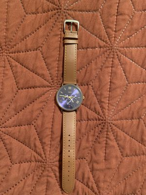 Timex men's leather strap watch for Sale in Sun City, AZ
