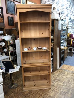 """Tall bookcase rustic country pine 30 x 12 x 84"""" for Sale in San Diego, CA"""