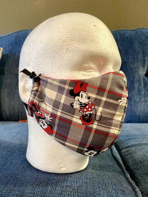 Handmade Masks Disney Minnie & Mickey. 100% Cotton. Hypoallergenic. Reusable. 5 Layers. Filter. for Sale in Orlando, FL