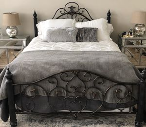 Beautiful iron bed for Sale in Everson, WA