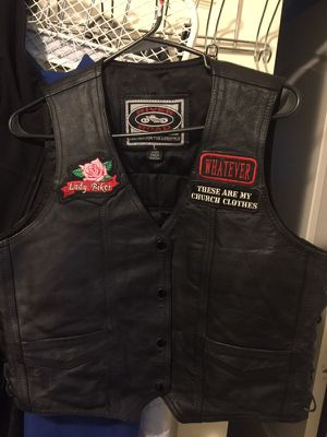 Lady Rider. Leather Riding Vest. Size L for Sale in Dallas, TX