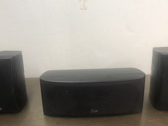 Polk Audio Speakers Center And Pair Of Bookshelf for Sale in Campbell,  CA