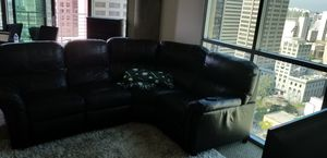 Basset Leather Couch w. 2 Recliners for Sale in San Diego, CA