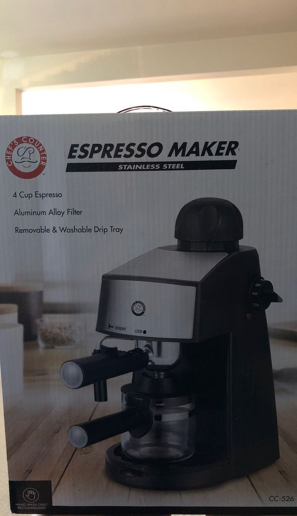 Espresso Maker Chef's Counter