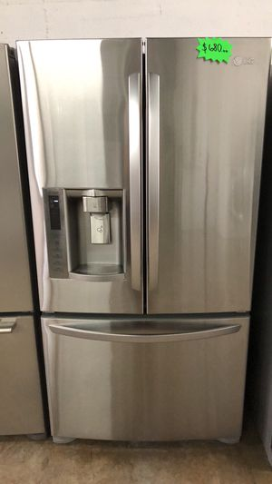 """LG 36"""" REFRIGERATOR Works great and warranty for 3 month Funcionando bien y garantía de 3 meses Delivery and installation available (plus) for Sale in Hialeah, FL"""
