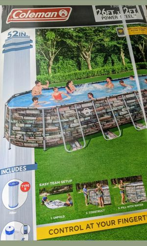 "Coleman 26' x 12' x 52"" Above Ground Pool for Sale in Maryville, TN"