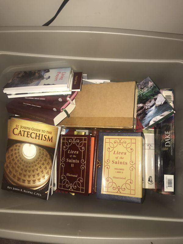 6 Tub Lot - New Catholic/Christian retail items
