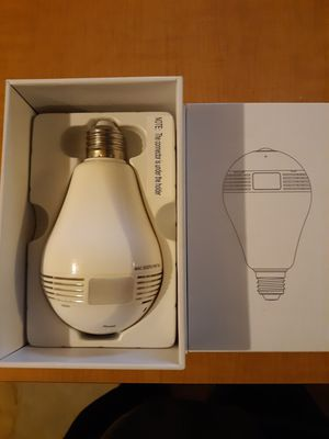 A light bulb wireless IP Panorama camera for Sale in Erie, PA