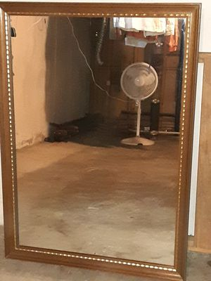 HUGE HEAVY ANTIQUE WALL MIRROR for Sale in Florissant, MO
