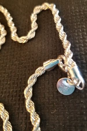 "20"" Sterling Silver Rope Chain for Sale in Knoxville, TN"