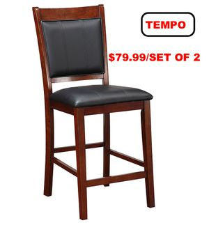 Counter Height Dining Chair (Set of 2), Cherry for Sale in Santa Fe Springs, CA