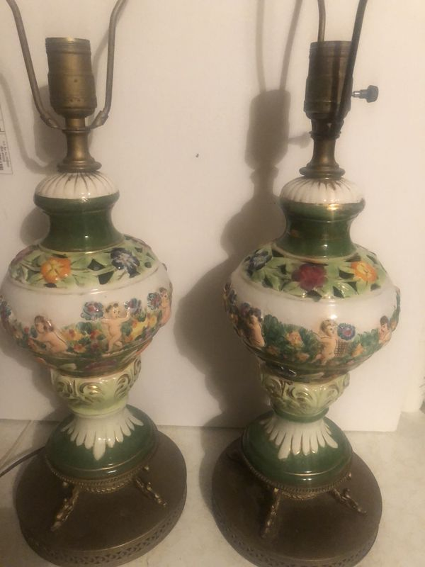 Two Antique Table Lamps!
