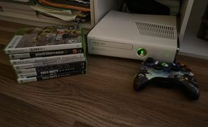 Xbox 360 , game discs(7game discs)controller,cable. for Sale in Richmond, TX