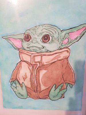 Baby Yoda custom painting for Sale in Oklahoma City, OK