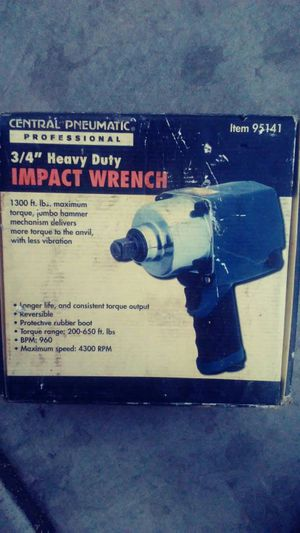 Central pneumatic impact wrench for Sale in Avondale, AZ