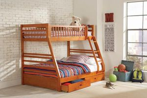 Solid wood twin full bunk bed for Sale in North Highlands, CA