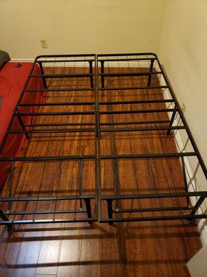 FULL black metal bed frame for Sale in Glendale, CA