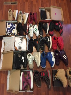 Nike Jordan Reebok Levi's Adidas Filas 10 for 300 or 500$ take all 9.5 to 10 men for Sale in Detroit, MI