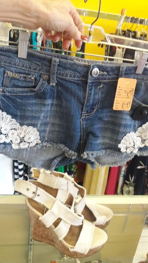 Used, Cute shorts and wedge heel for Sale for sale  Peoria, AZ