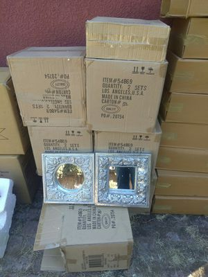 WALL MIRRORS NICE NEW IN BOX....$25 FOR 4+FREE GIFT for Sale in Stockton, CA