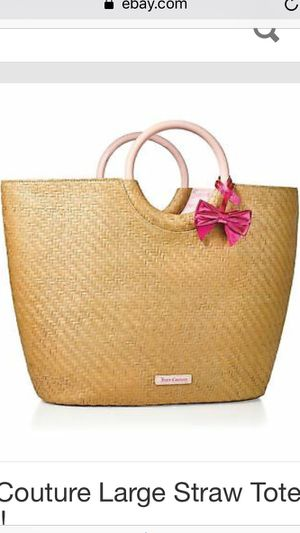 Juicy Couture Large Straw Tote Bag New for Sale in Huntington Beach, CA