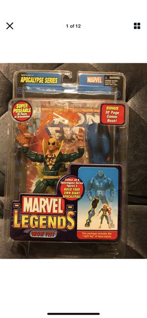 Marvel Legends Iron Fist Green Variant Apocalypse Series BAF Right leg -New for Sale in Fresno, CA