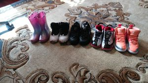 Female boots; female jordans and fila sneakers for Sale in Buffalo, NY