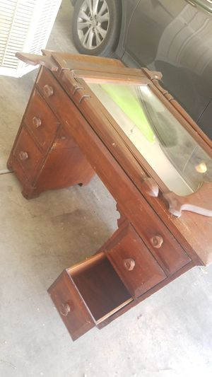 Solid Wood Antique Vanity with Mirror for Sale in Sahuarita, AZ