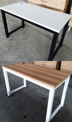NEW $110 each 48x24x30 Inches Tall Laminate Steel Leg Office Computer Waterproof Desk 6 Colors to Choose From Home Study Table Furniture for Sale in Los Angeles, CA