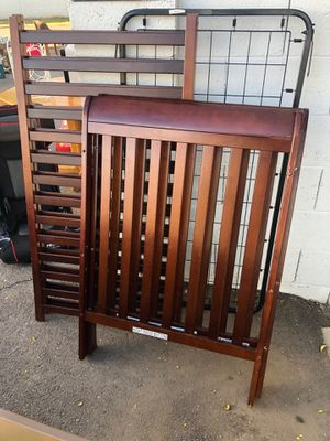 Baby Crib Dark Solid Wood for Sale in Lakeside, AZ