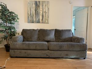 Polyester Grey Sofa for Sale in Land O' Lakes, FL