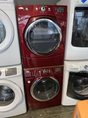 WHIRLPOOL LARGE CAPACITY WASHER DRYER ELECTRIC SET for Sale in Vancouver, WA