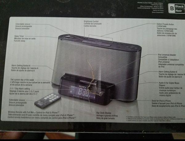 Vintage Sony ICF-CS10IP Clock Radio