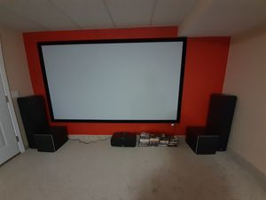 Polk 5.1 speakers with 2 woofers for Sale in Cumberland, RI